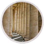 0056 Roman Pillars St. Peter's Basilica Rome Round Beach Towel