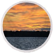 006 Awe In One Sunset Series At Erie Basin Marina Round Beach Towel