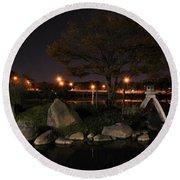 006 Japanese Garden Autumn Nights   Round Beach Towel