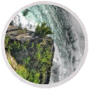 006 Niagara Falls Misty Blue Series Round Beach Towel