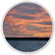 007 Awe In One Sunset Series At Erie Basin Marina Round Beach Towel