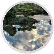007 Delaware Park Japanese Garden Mirror Lake Series Round Beach Towel