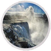 007 Niagara Falls Winter Wonderland Series Round Beach Towel