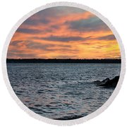 008 Awe In One Sunset Series At Erie Basin Marina Round Beach Towel