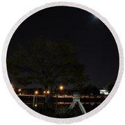 008 Japanese Garden Autumn Nights   Round Beach Towel