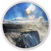 008 Niagara Falls Winter Wonderland Series Round Beach Towel