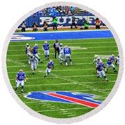 009 Buffalo Bills Vs Jets 30dec12 Round Beach Towel