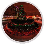 009 Christmas Light Show At Roswell Series Round Beach Towel