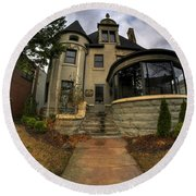 009 Law Offices Cornell Mansion Round Beach Towel