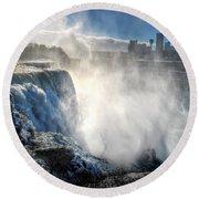 009 Niagara Falls Winter Wonderland Series Round Beach Towel