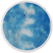 0107 - Air Show - Traveling Pigments Hp Round Beach Towel