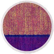 0116 Abstract Thought Round Beach Towel
