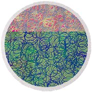 0122 Abstract Thought Round Beach Towel