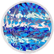 0137 Abstract Thought Round Beach Towel
