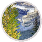0141 Fall Colors On Icefield Parkway Round Beach Towel