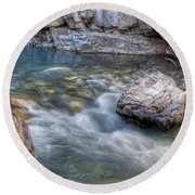 0143 Marble Canyon   Round Beach Towel