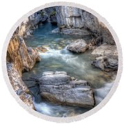 0144 Marble Canyon 2 Round Beach Towel