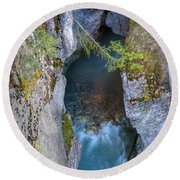 0147 Marble Canyon Round Beach Towel