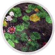 0148-lily -  Watercolor 2 Sl Round Beach Towel