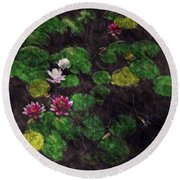 0151-lily -  Watercolor 2 Sl Round Beach Towel