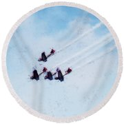 0161 - Air Show - Acanthus Round Beach Towel