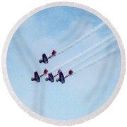 0161 - Air Show - Expressionist Plein Air Round Beach Towel