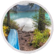 0162 Emerald Lake Round Beach Towel