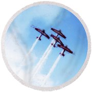 0166 - Air Show - Acanthus Round Beach Towel