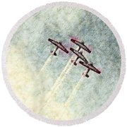 0166 - Air Show - Colored Photo 2 Hp Round Beach Towel