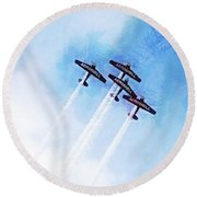 0166 - Air Show - Lux Round Beach Towel
