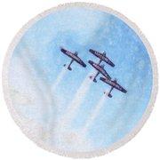 0166 - Air Show - Synchro Round Beach Towel