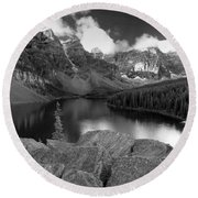 0166 Moraine Lake Round Beach Towel