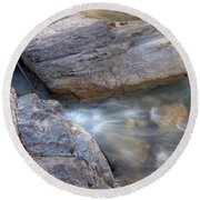 0180 Marble Canyon 2 Round Beach Towel