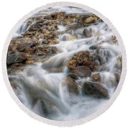 0190 Glacial Runoff 2 Round Beach Towel