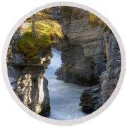 0191 Athabasca Canyon 2 Round Beach Towel