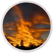 02 05 11 Sunset Two Round Beach Towel
