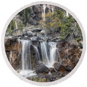 0202 Tangle Creek Falls 5 Round Beach Towel