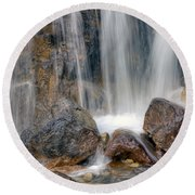 0203 Tangle Creek Falls 4 Round Beach Towel