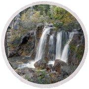 0204 Tangle Creek Falls 3 Round Beach Towel