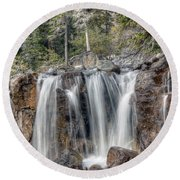 0206 Tangle Creek Falls 2 Round Beach Towel