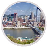 0240 Pittsburgh Pennsylvania Round Beach Towel