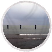0241 North Avenue Beach Round Beach Towel