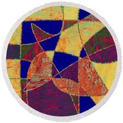0268 Abstract Thought Round Beach Towel