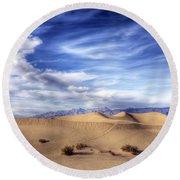 0292 Death Valley Sand Dunes Round Beach Towel