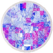 0318 Abstract Thought Round Beach Towel