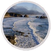 0319 Indian Beach Round Beach Towel