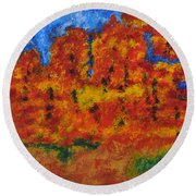 032 Abstract Landscape Round Beach Towel