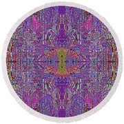 0320 Abstract Thoyght Round Beach Towel