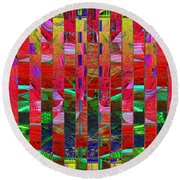 0337 Abstract Thought Round Beach Towel