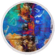 Expression With Vision Round Beach Towel